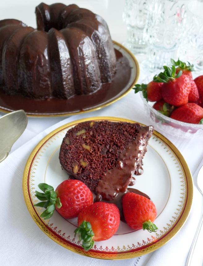 choc walnut cake A