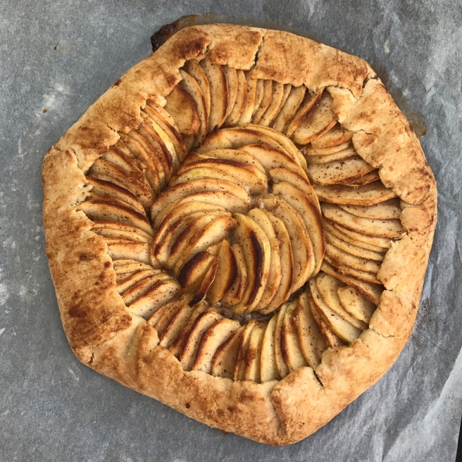 apple galette top