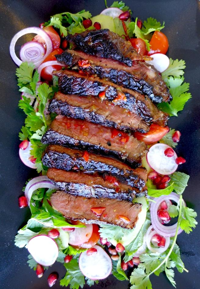 steak salad mine